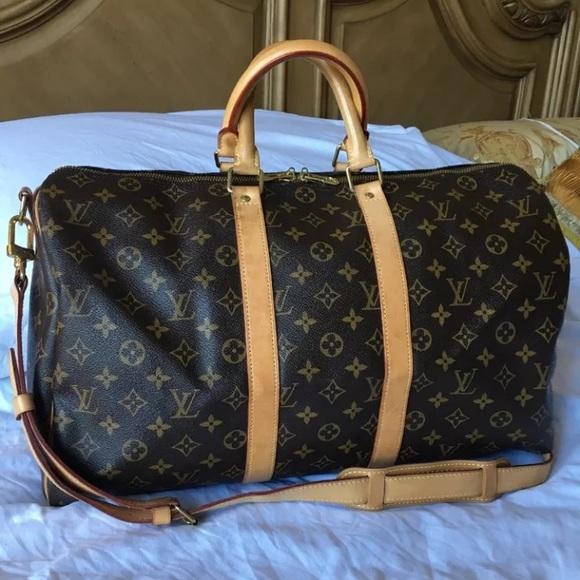 Louis Vuitton Handbags - Louis Vuitton Monogram Keepall 45 Bandouliere Bag b1adca0613f52